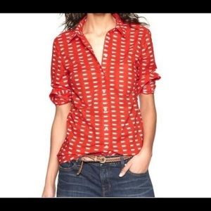 The gap tea cup fitted boyfriend shirt, size small